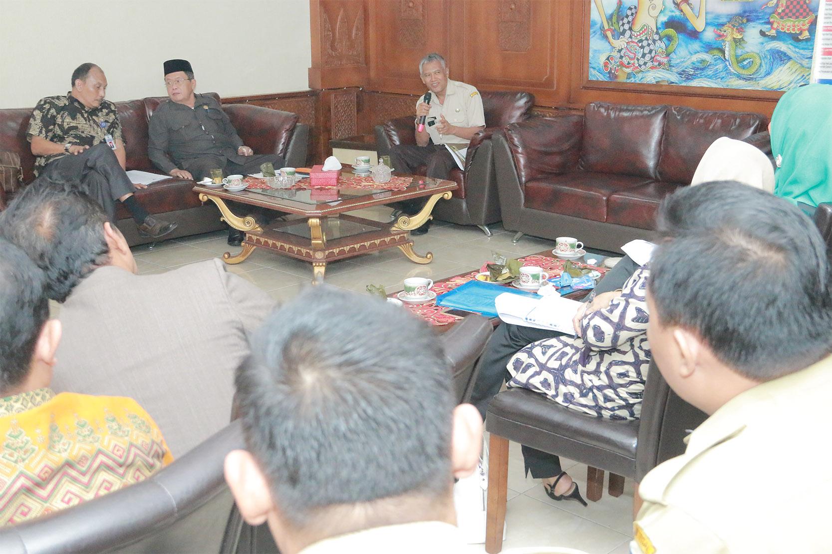 Penerimaan Tamu Kunjungan Kerja DPRD Kabupaten Tegal