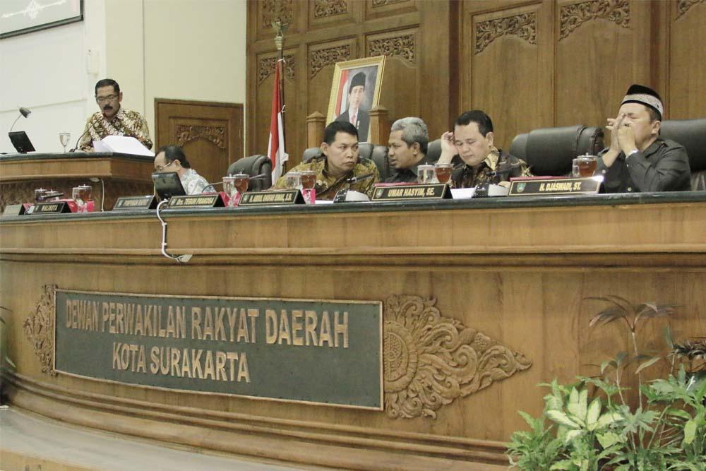 Rapat Paripurna Ke-1 DPRD Kota Surakarta