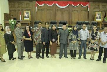 Penerimaan Tamu Kunjungan Kerja DPRD Kota Palangkaraya