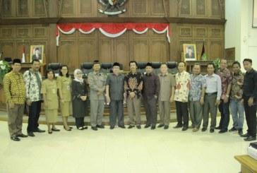 Penerimaan Tamu Kunjungan Kerja DPRD Kabupaten Palangkaraya
