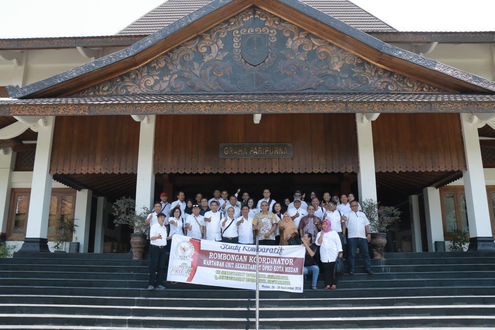Tamu Kunjungan Kerja dari Sekretariat DPRD dan Wartawan Kota Medan