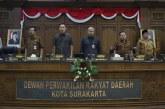 Rapat Paripurna IV DPRD Kota Surakarta
