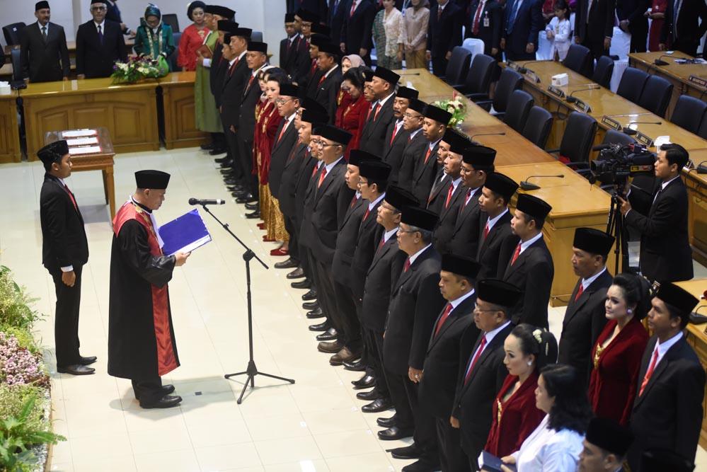 Pelantikan Anggota DPRD Kota Surakarta Masa Jabatan 2019-2024