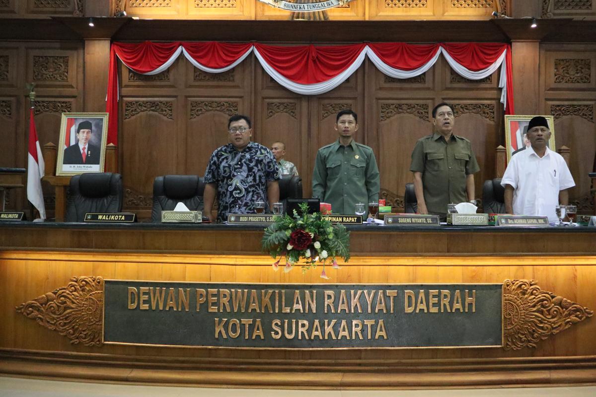 Rapat Paripurna Pembentukan Alat Kelengkapan DPRD Kota Surakarta