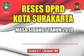 Anggota DPRD Kota Surakarta Serentak Laksanakan Reses