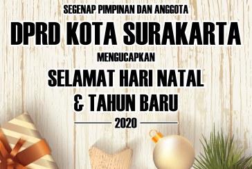 DPRD Kota Surakarta Mengucapkan Selamat Hari Natal dan Tahun Baru 2020