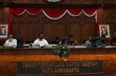Rapat Paripurna I DPRD Kota Surakarta
